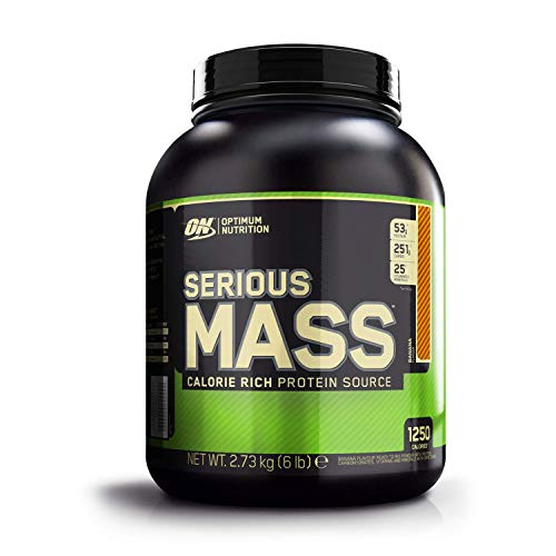 Optimum Nutrition Serious Mass Protein Powder High Calorie Mass Gainer with Vitamins, Creatine and Glutamine, Banana, 8 Servings, 2.73 kg, Packaging May Vary