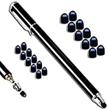 MobiLinyi Premium Touchstift schwarz mit 20 x Ersatzspitzen Eingabestift Stylus Touch Pen kompatibel mit Apple iPhone iPad Samsung Huawei Sony Honor Cubot Smartphones und Tablets