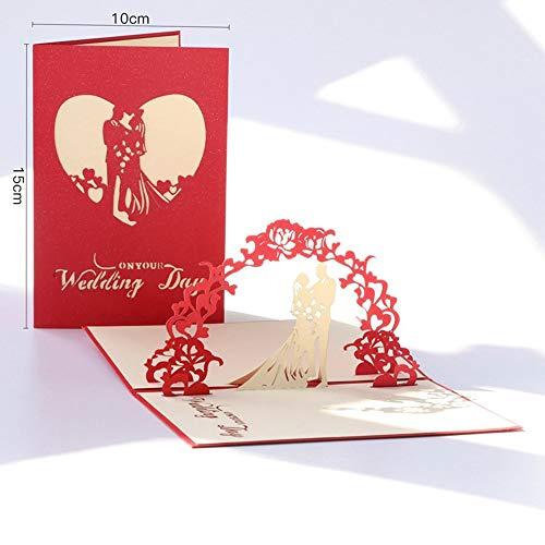 Kaart Dank U - 3D Pop Up Card Verjaardag Bruiloft Valentijnsdag Verjaardag Wenskaarten Uitnodigingen Decoraties - Card Wenskaart 3D Love Card Verjaardagskaart Pop Up Card Verjaardag 3D 3D