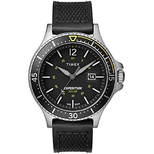 Timex Reloj Analógico para Hombre de Energía Solar con Correa en Cuero TW4B14900