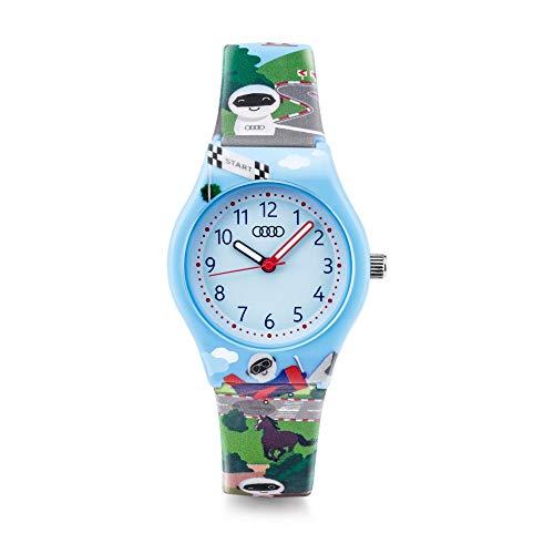 Audi 3202000900 Armbanduhr Kinder Uhr Roboter ADUI Design hellblau, Blau