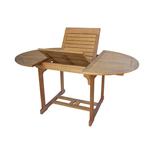 SEDEX Dalia Gartentisch 120-180/120 cm Tisch mit Auszugfunktion Holztisch Eukalyptus