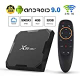 X96 Max+ Android TV Box 9.0 Amlogic S905X3 4GB RAM 32GB ROM 2.4G/5.8G WiFi 1000M LAN Bluetooth 4.0 H.265 HDR 3D 4K 60fps with 2.4G Voice Remote Control