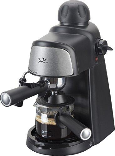 Jata CA704 Cafetera por hidropresión. Para 2-4 cafés expresso. 3,5 bar 4 posiciones. Filtro de acero inoxidable. Con diseño compacto para almacenar de maner sencilla.