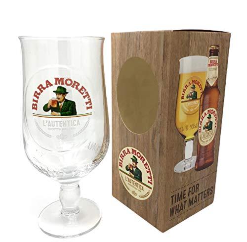 Birra Moretti - Calice da mezza pinta in confezione regalo (1 bicchiere) da GarageBar