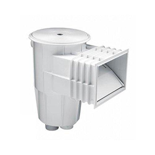 Astralpool 00249 Skimmer 15 Liter Pool Beton Standard Mund Deckel rund, Weiß
