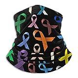 LREFON Braga de Cuello con dise Cintas de colores de concienciación sobre el cáncer Unisex Microfiber Neck Warmer Neck Gaiter Face Mask Bandana Balaclava