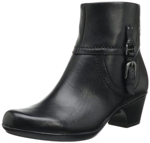 Hot Sale Clarks Women's Ingalls Tweed Bootie,Black Leather,8.5 M US