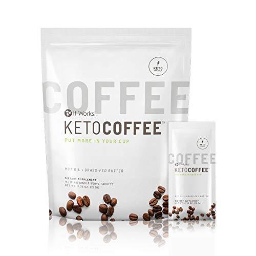 It works Keto Coffee KetoCoffee 15 Individual Servings Per Bag, 15.31 Grams Proprietary Ketogenic Blend New Formula!