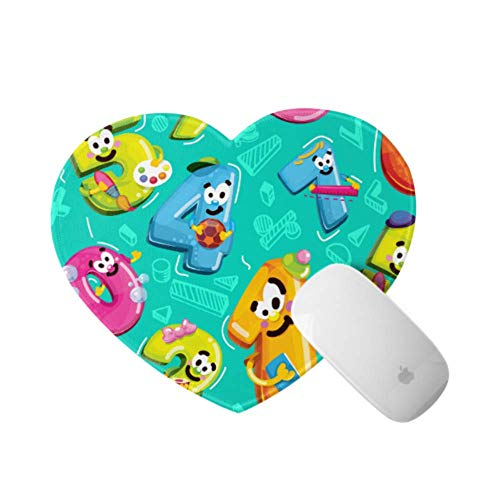 Adult Mouse Pad Cartoon Funny Colorful Alphabet Package Waterproof Mouse Pad Mat 9.4×7.8×0.12 Inches Ultra Thick 3 Mm Heart Shaped Waterproof Mouse Pad Mat Ideal for Desk,pc and Laptop