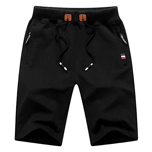 Swibitter Gym Shorts for Men Running Shorts Basketball Track Gym Workout Soccer Volleyball Baseball Athletic Yoga Shorts Boy Shorts Black