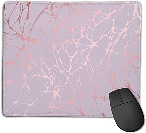 Alfombrilla de ratón para Juegos, diseño de Vector Abstracto de mármol Rosa Dorado, Alfombrilla de ratón con Base de Goma Antideslizante para Ordenadores portátiles Alfombrillas de ratón - 25 cm x 20