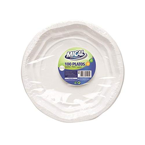 Mical Platos plastico 205 100 unidades