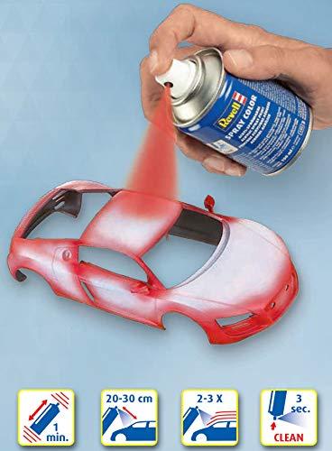 Revell 34146 Spraydose nato-oliv, matt Spray Color, Farben in der praktischen 100-ml-Sprühdose