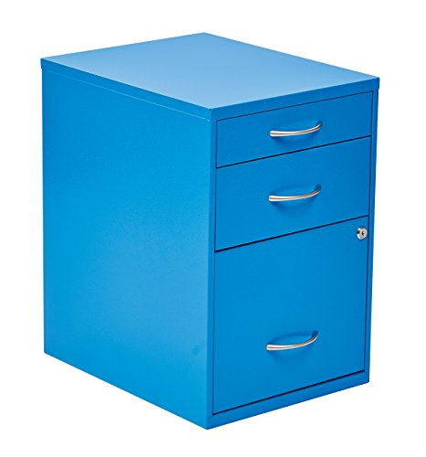 OSP Home Furnishings HPBF7 Pencil, Box and Storage File Cabinet, 22-Inch, Blue