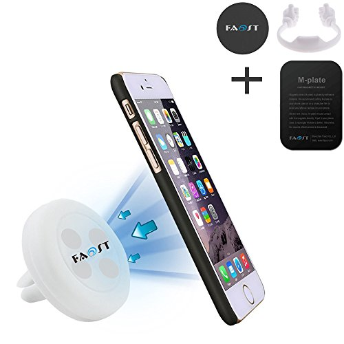 Car Mount Pack,3 in 1 Air Vent phone Car Mount w/ Magnetic 1 Step Mounting Technology Compatible with all Phones,thumb up Stand for Cell Phones,iPad,tablet,Kindle holder Blue/Black/Red (White)