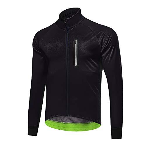 d.Stil Herren Multifunktionell Fahrrad Jacke Wasserdicht Winddicht Radjacke Reflektierend für Radsport Lauf Outdoor Sport (schwarz, 3XL)