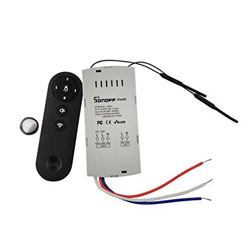 Sonoff IFan02 Deckenventilator-Controller WiFi Smart-Deckenventilator mit Licht APP-Fernbedienung