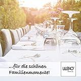 LILENO HOME Molton Tischpolster als Tischdeckenunterlage in weiß (110 x 160cm) - wasserdichte u. rutschfeste Tischunterlage als idealer Schutz für Tisch - Unterlage eckig für alle Tischdecken - 2