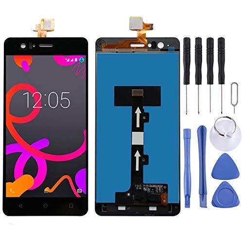 TANGJIANCHENG-Accesorios para teléfono profesional compatible con pantalla LCD BQ Aquaris M5 y piezas de montaje completo (color: negro)