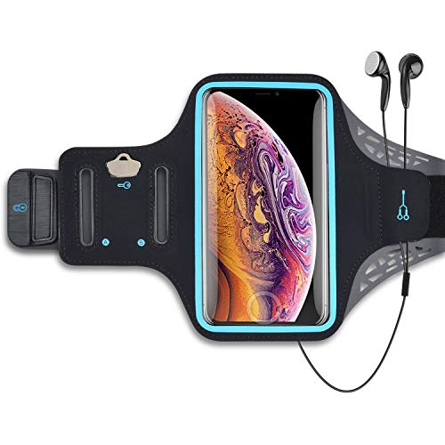 Takfox Handy-Armband für Samsung Galaxy S20 Ultra S21 Plus S10 Note 20 10 A12 A01 A11 A21 A51 A71, iPhone 12 Pro Max, Stylo 6 K51 Sport Laufen Workout Handy Halter Tasche Kartensteckplätze, Schwarz