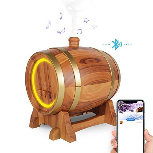 Aromatherapie Mist Diffuser 3D-effect Night Light Aroma luchtbevochtiger voor Huis, Yoga, Slaapkamer, Gym,Yellow