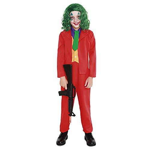 Disfraz Mad Clown Joker Niño Cine y TV (Talla 7-9 años) (+ Tallas)