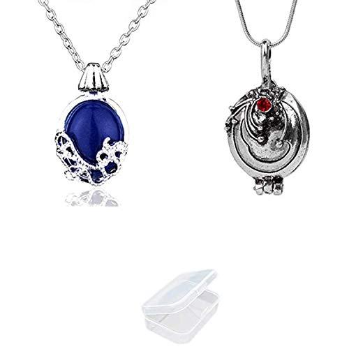 YouU 2 Stück Vampire Diaries Halskette von Katherine Pierce und Halskette von Elena Gilbert, Esthers Geheimnis mit Aufbewahrungsbox