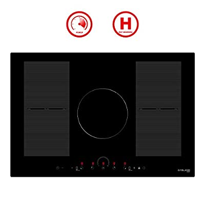 """30"""" Built-in Induction Cooktop, GASLAND Chef IH77BFH 240V Electric Induction Hob, Drop-in 5 Burner Induction Stovetop, 9 Power Levels, Sensor Touch Control, Child Safety Lock, 1-99 Minutes Timer"""