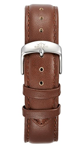 Sailor Damen Herren Leder Armband Basic Brown braun BSL101-2021-20, Breite Armband:20mm (normal), Fa