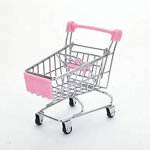 Chanhan Mini-Einkaufswagen, Supermarkt, Einkaufswagen, Einkaufs-Einkaufs-Dekoration, Einkaufswagen, Spielzeug, Kinderspielzeug Rose