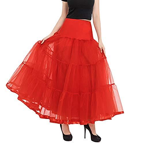 Dasongff jaren '50 jurk vintage retro petticoat rijfrok huwelijk bruidsrok petticoat lang dansrok baljurk ballettu-onderrok voor carnaval, party, kostuums minirok rok dansjurk