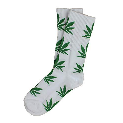 HXZ Weed Leaf Bedruckte Baumwollsocken Unisex Canada Maple Leaf Crew Socken für Frauen Erwachsene und Jugendliche Sport High Crew Socken, N/A, E type-1 Pair