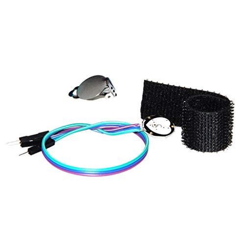 Heart Rate Pulse Sensor Pulsesensor Detector Module with Ear Clip, Hook Dots, Transparent Stickers 3V - 5V for Arduino