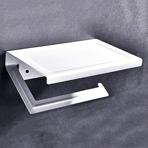 Skykaylen - Toallero de papel para papel higiénico no perforado, montado en la pared, aluminio, color burdeos