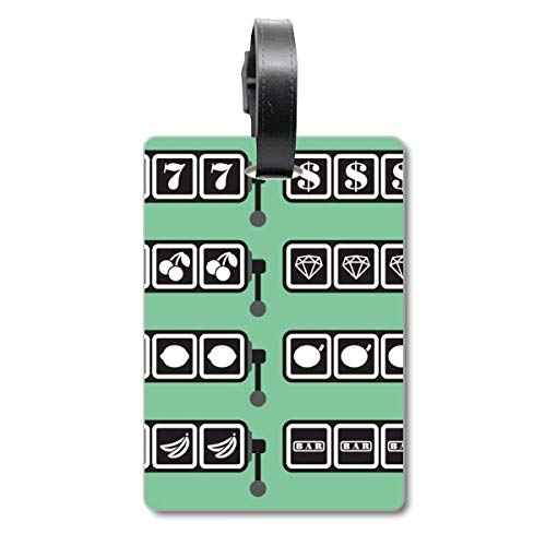 Slot Machine Winning Pattern Illustration Cruise Suitcase Bag Tag Tourister Identification Label