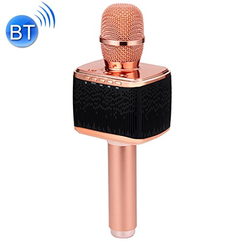 Handheld KTV Karaoke Double Speakers High Sound Quality Handheld KTV Karaoke Recording Bluetooth Wireless Condenser Microphone, For Notebook, PC, Speaker, Headphone, iPad, iPhone, Galaxy, Huawei, Xiao