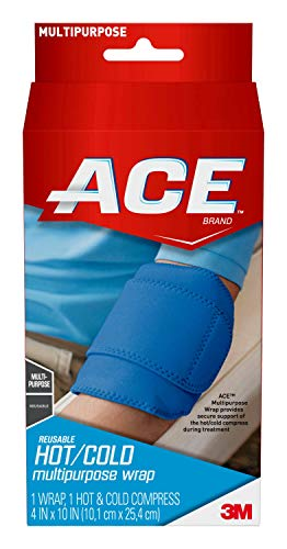 ACE Reusable Hot/Cold Neoprene Compression Wrap, Works for wrists, ankles and more, Neoprene-blend wrap that