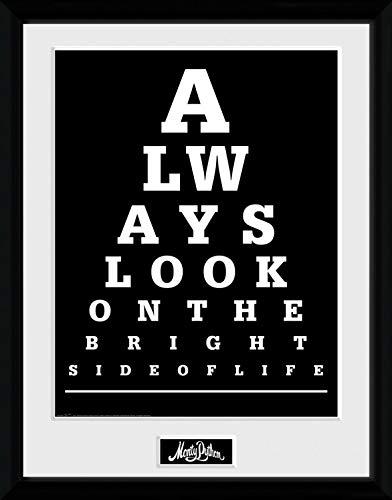 1art1 Das Leben des Brian - Monty Python, Bright Side Gerahmtes Bild Mit Edlem Passepartout | Wand-Bilder | Kunstdruck Poster Im Bilderrahmen 40 x 30 cm