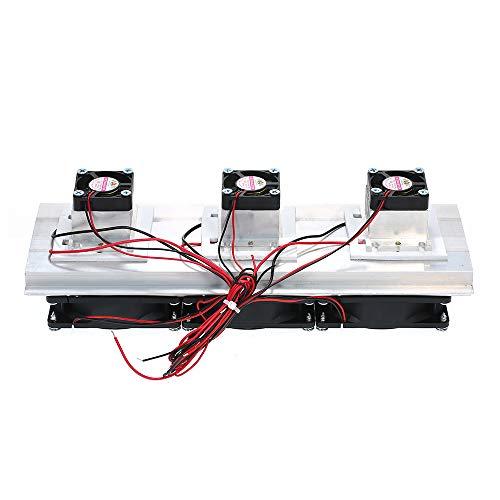 Termoeléctrica,Baugger- 180W Trinuclear Termoeléctrico Peltier Refrigeración Refrigeración por aire Sistema Kit Refrigerador 3xFan