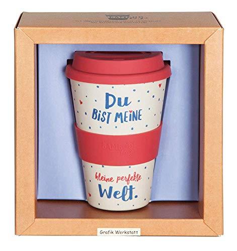 Grafik Werkstatt // Bambusbecher // Kaffeebecher // Coffee-to-Go // Trinkbecher // 400 ml // Bamboo-to-go // Perfekte Welt