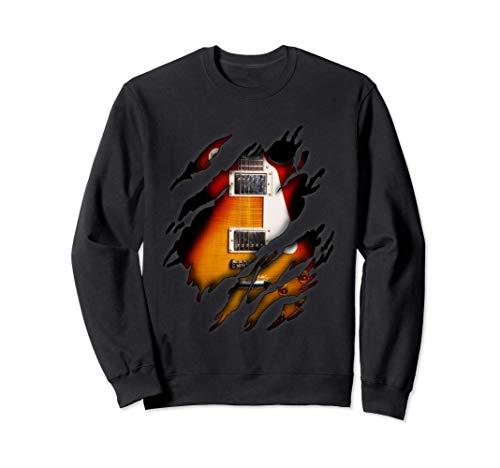 E-Gitarre in mir Design, Gitarre Sweatshirt