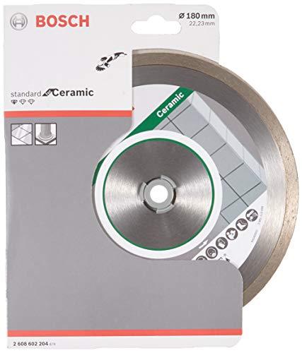 Bosch Professional Diamanttrennscheibe Standard für Ceramic, 180 x 22,23 x 1,6 x 7 mm, 1-er Pack, 2608602204