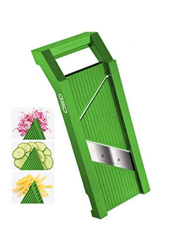 GSD Haushaltsgeräte G S D Universal 30021 - Affettaverdure in acciaio INOX, colore: Verde
