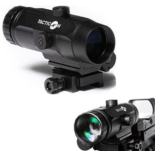 Falcon V1 3X Red Dot Magnifier with Flip to Side Mount for Picatinny Rail and 2.5 inches of Eye Relief