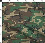 Braun, Farbe, Tarnfarbe, Wald Stoffe - Individuell Bedruckt