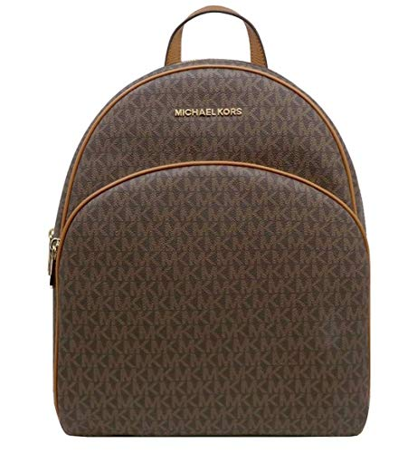 MICHAEL Michael Kors Abbey Jet Set Large Leather Backpack (Brown 2020)