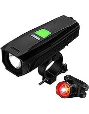 自転車ライト 充電式 Topoomy 【5つの光モード / バッテリー残量が表示され】(連続点灯20時間/450ルーメン/IP65防水仕様/1年保証付き)