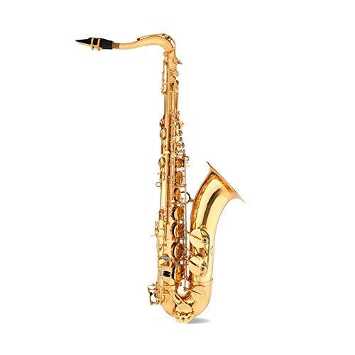 Chyuanhua Saxophon Saxophon-Instrument B-flaches Saxophon geeignet for professionelle Bandleistung Geeignet für Studenten und Anfänger (Farbe : As Shown, Size : One Size)