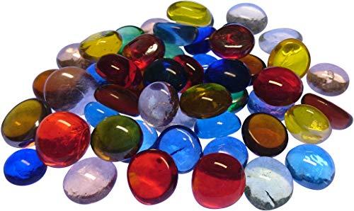 Fliesenhandel Fundus Glasnuggets 400g Muggelsteine 12-16mm Bunt Mix ca. 150 Stück Bunte Steine